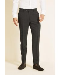 Ted Baker Alter Eco Tailored Fit Grey Pindot Pants - Gray