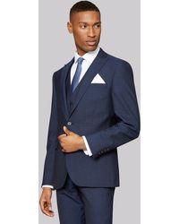 DKNY Slim Fit Indigo Mohair Look Jacket - Blue