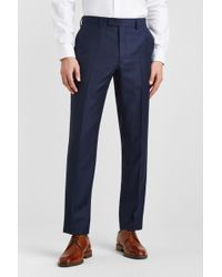 Ted Baker - Gold Tailored Fit Navy Semi Plain Trousers - Lyst