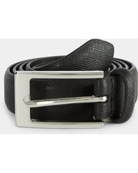 Moss London Black Skinny Belt
