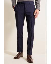 DKNY Slim Fit Navy Panama Pants - Blue