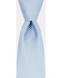 HUGO - Hugo Boss Blue Diamond Tie - Lyst