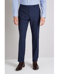 Ermenegildo Zegna - Tailored Fit Blue Prince Of Wales Check Trouser - Lyst