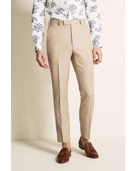 French Connection Slim Fit Neutral Trousers - Natural