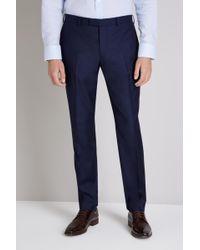Ermenegildo Zegna Tailored Fit Naples Blue Trouser