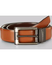 Ted Baker Crafti Tan/brown Reversible Leather Belt