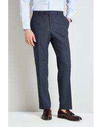 Moss Esq. Regular Fit Blue Speckle Trouser
