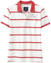 Crew White And Red Jersey Polo