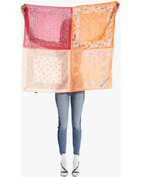 Mother The Four Corners Scarf Wrong Turn, Right Direction Orange