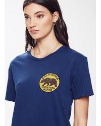 Aviator Nation - Small California Bear Circle Crew Tee Vintage Poseidon - Lyst