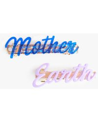 Mother The Barrette Mother Earth/blue & Purple