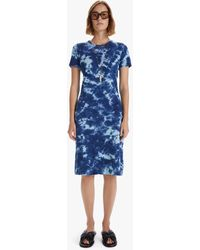 Mother The Little Goodie Goodie Midi Dress Parting The Waters - Blue