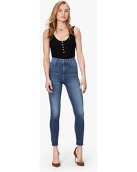 Mother - The High Waisted Looker Ankle Fray Big Sky - Lyst