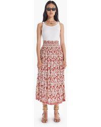 Natalie Martin Bella Skirt Shadow Print Red