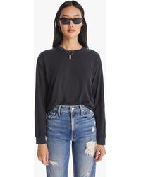 Mother The L/s Slouch Raw Black