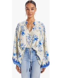 Natalie Martin Lizzy Shirt Posey Print Bluebell