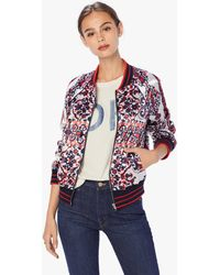 Mother - The Letterman Zip Jacket Back And Forth - Lyst