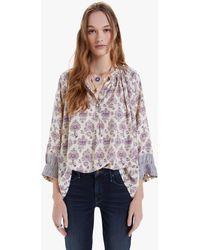 Natalie Martin Remy Shirt Cyprus Print Lilac - Multicolour