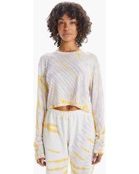 SPRWMN Long Sleeve Tee Marigold Marble - Multicolor