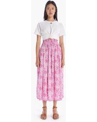 Natalie Martin Bella Skirt Geranium Print Pink