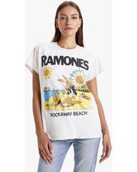 MadeWorn Ramones Rockaway Beach Tee - White