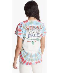MadeWorn Grateful Dead Steal Your Face Crew Tee Tie Dye - Blue