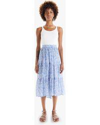 Xirena Iris Skirt Bleu Bell - Blue