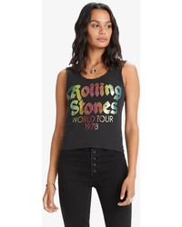 MadeWorn The Rolling Stones World Tour '78 Lace Tank - Black