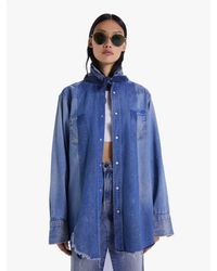 Mother The Seamed Western Shirt The Right Path - Blue