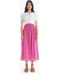 Natalie Martin Bella Skirt Fern Print Carmine - Pink