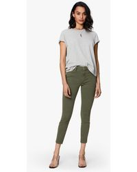 Mother Denim High Waisted Looker Ankle Second Chance Dark Olive - Green