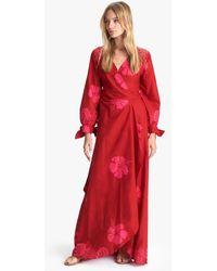 Natalie Martin Danika Dress Hibiscus Dragonfruit Batik - Red