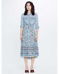 Xirena - Kaia Xanadue Printed Gauze Skirt Blue Lagoon - Lyst