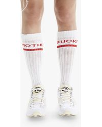 Mother The Scrunch Sock White Red Mother