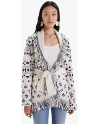 Mother The Belted Short Cardigan Mother - White
