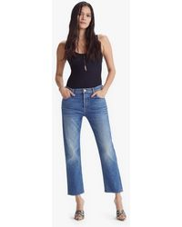 Mother The Patch Pocket Zip Private Ankle Fray Tell It To The Pope - Blue