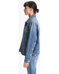 Mother The Buttoned Up Drifter Jacket Take Me Higher - Blue