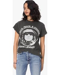 MadeWorn John Lennon Give Peace A Chance Crew Tee Coal - Black