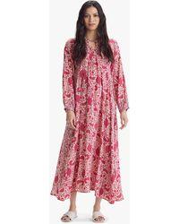 Natalie Martin Fiore Maxi Dress Bougainvillea Pink