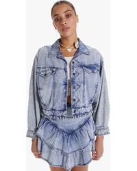 Mother The Fly Away Ruffle Jacket Threading The Needle - Blue
