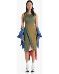 Mother The Crossover Step Fray Dress Correct Me If I'm Wrong - Blue