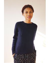 M.Patmos Baltic Cashmere Pullover - Navy - Blue