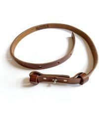 Billykirk Single Collar Button Belt - Tan - Brown