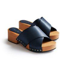 Lisa B Criss Cross Sandal - Blue