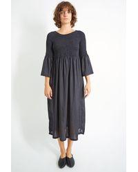 M.Patmos Stella Midi Silk Dress - Black