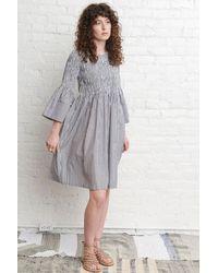 M.Patmos Pinstripe Stella Dress - Gray