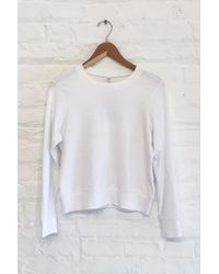 Alternative Apparel Cotton Modal Pullover Sweatshirt - White