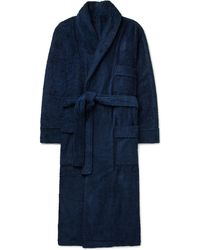 Anderson & Sheppard - Cotton-terry Robe - Lyst