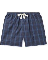 Howlin' Holiday Wide-leg Checked Cotton-ripstop Drawstring Shorts - Blue