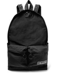 Off-White c/o Virgil Abloh - Logo-appliquéd Canvas Backpack - Lyst